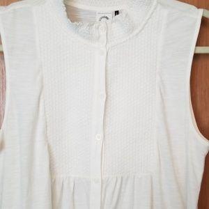 Anthropologie Akemi & Kin White Tunic Top Shirt M